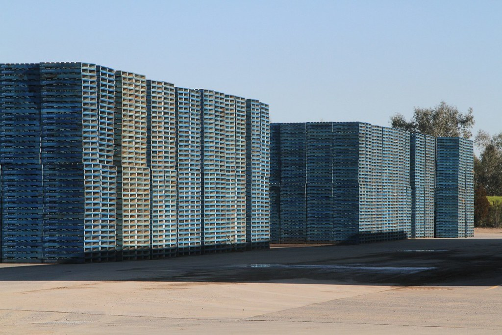 Stockpile of completed Chep timber pallets   Dormit Pty Ltd