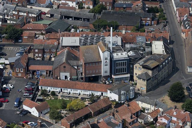 Adnams Brewery in Southwold - Suffolk aerial