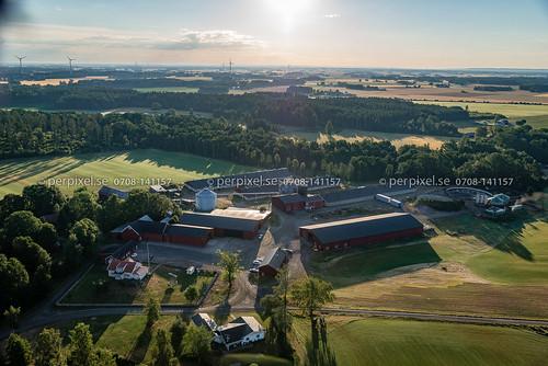 flygfoto gård vedum horshaga västragötaland sverige swe