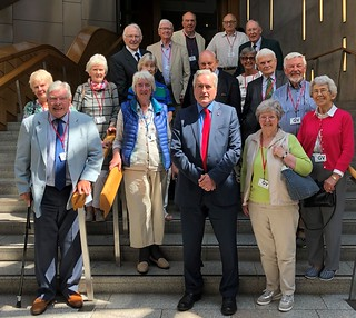 With visitors from North Berwick Regal group | by Iain Gray MSP
