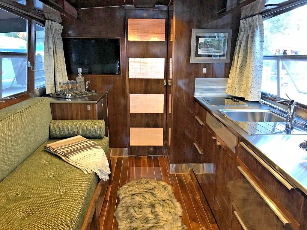 1961 Holiday House Geographic Vintage Travel Trailer Restored by Flyte Camp