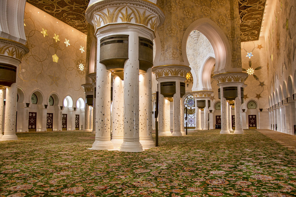 Inside The Mosque Sheikh Zayed Mosque Abu Dhabi Sheikh Z Flickr
