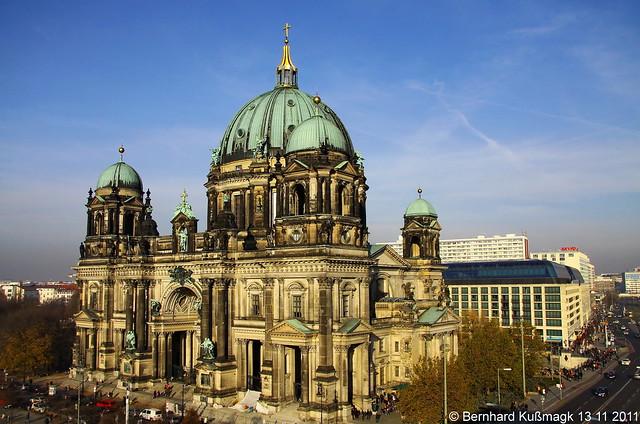 Europa, Deutschland, Berlin, Mitte, Am Lustgarten Ecke Schlossplatz, Berliner Dom, Blick von der Humboldtbox