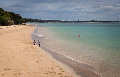 beach landscape shore water sea australia outdoors herveybay outdoor queensland luminous qld urraween au location