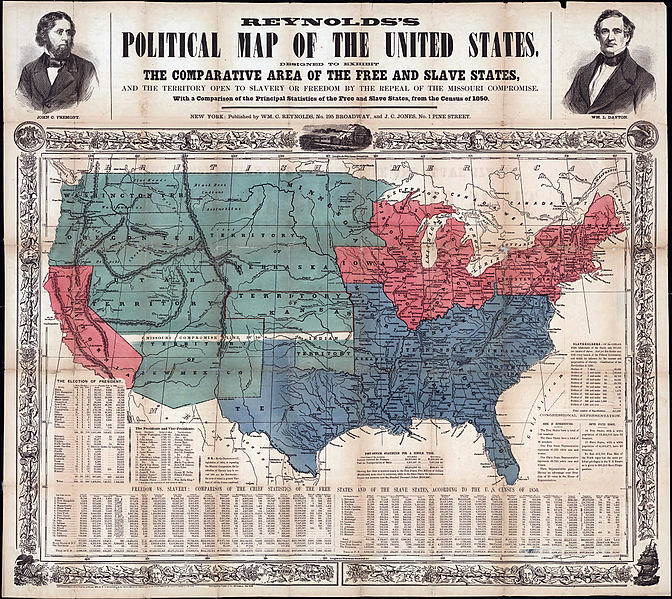 Political Map of Free and Slave States, 1856 | Slavery was o… | Flickr