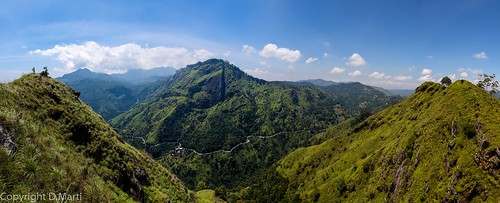 travel sky panorama green nature landscape asia country ella hills valley srilanka hdr