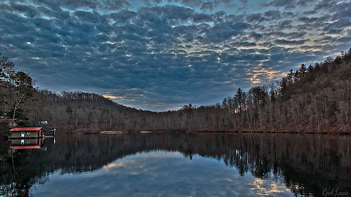 trees sky lake water clouds reflections georgia landscape burton