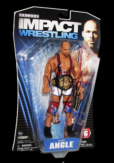 Kurt Angle Autographed JAKKS Pacific TNA DELUXE IMPACT Series 6 Figure