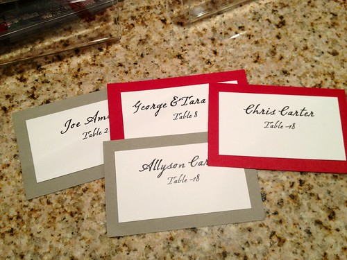 placecards | by The Spohrs Are Multiplying...