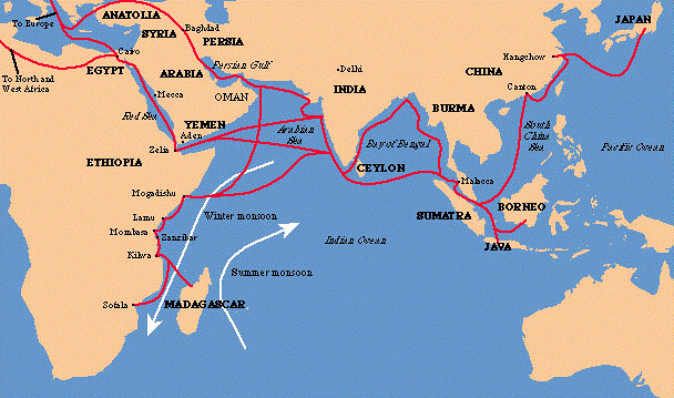 indian ocean trade routes | www.salaam.co.uk/themeofthemonth ... on afghanistan map, ogallala aquifer map, marco polo route map, indian ocean sea routes, ancient trade routes map, indian ocean maritime routes, eurasian trade routes map, indian ocean commerce, indian ocean commercial network, indian ocean trading network, silk road map, alexander the great route map, indian ocean sea lanes, world trade routes map, india trade map, silk route map, persian empire map, crusades route map, aryans route map, vikings route map,