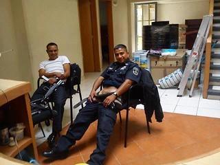 A las vegas security guard plotted