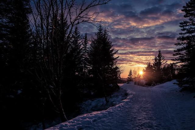 Sunset near Brushytten