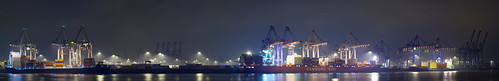 Hamburg Harbor Athabaskakai By Night | by he-sk