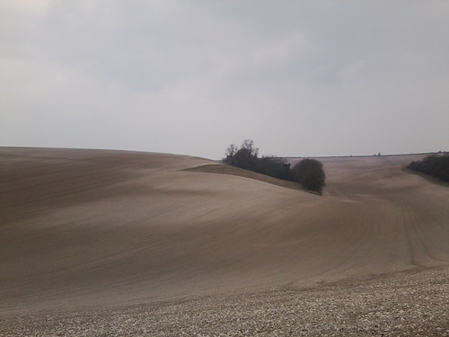 Sussex Sahara Ploughed downland above Amberley. Amberley to Pulborough