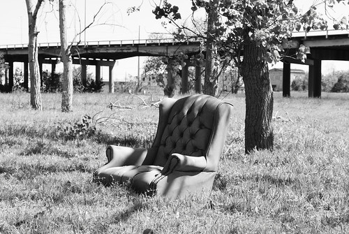 Easy Chair and Elysian Viaduct, Houston, Texas 1303251144BW | by Patrick Feller