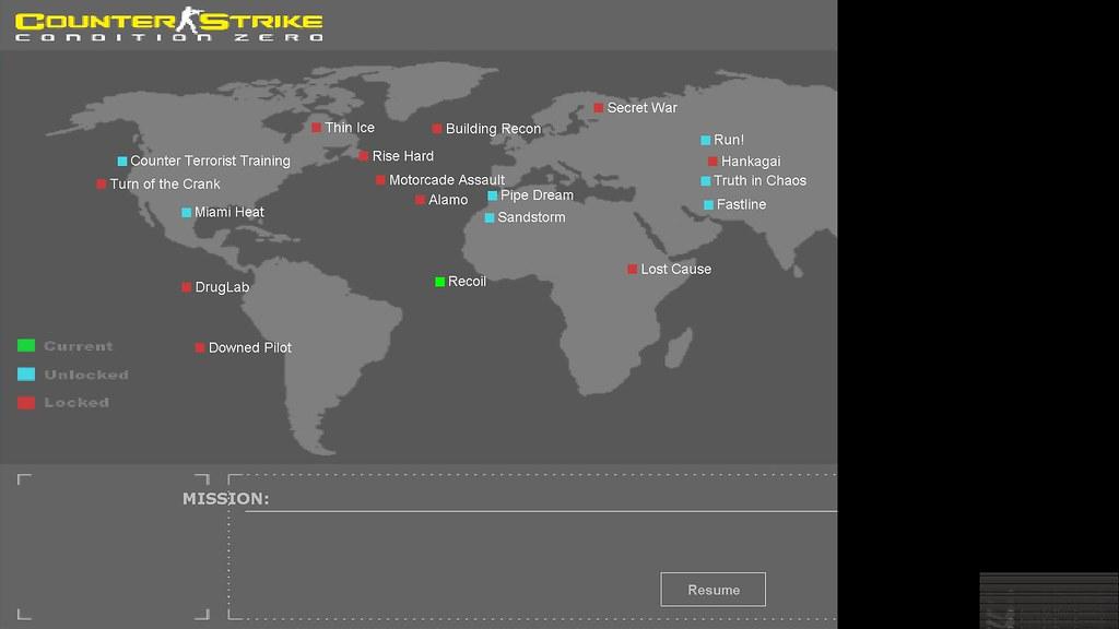 Counter-Strike: Condition Zero Deleted Scenes - World Map