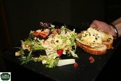 Ensalada de queso de cabra, augusta madrid, restaurante