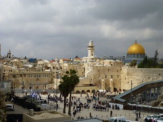 Wailing Wall and Dome of the Rock overview (Jerusalem, Israël 2013)   by paularps