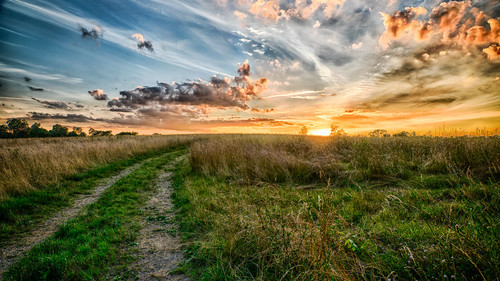 sunset sky clark county kentucky winchester clouds sun refmo