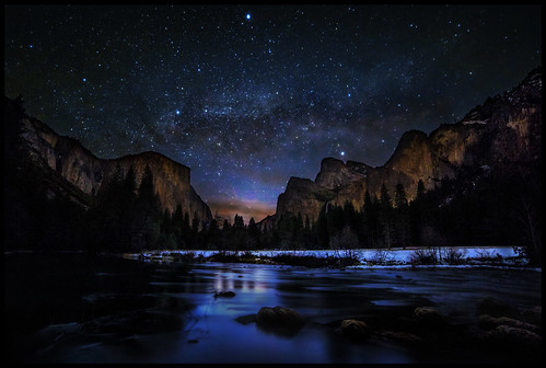 Milky Way at Dawn in Yosemite Valley | by Gregg L Cooper