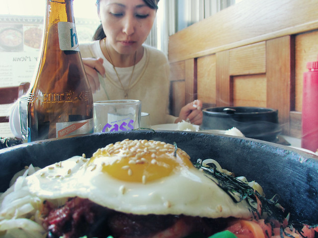 with Helen at Manna Korean restaurant on Irving St; The Sunset, San Francisco (2013)