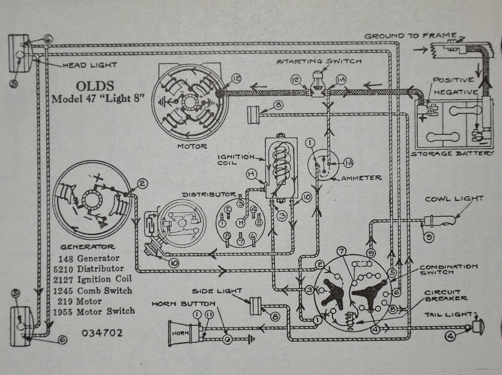 Oldsmobile 'Light 8' wiring diagram - 's Automotive 19 ... on