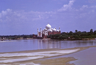 the Taj Mahal (from the lesser seen side)