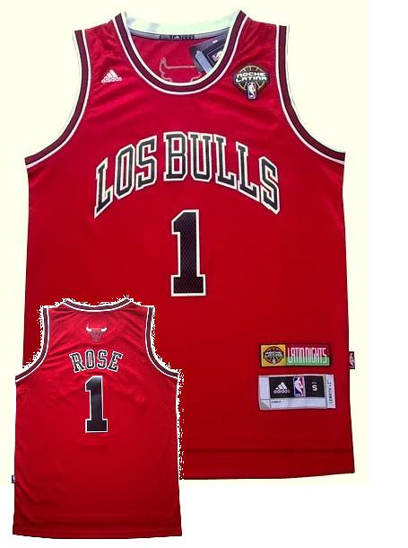 new arrival bcf8a 780fe Derrick Rose (Red Noche Latina Uniform - Adidas) | NBA ...