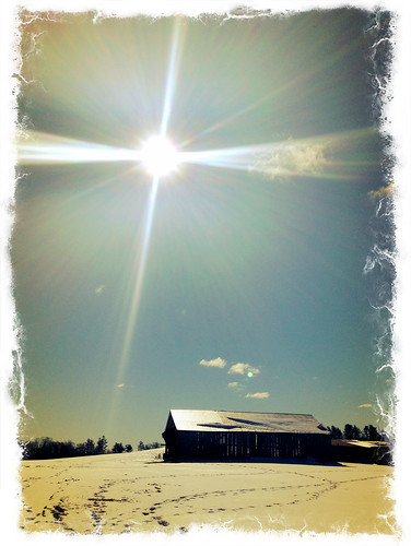 sun snow barn sunrise lens glare nh flare epping