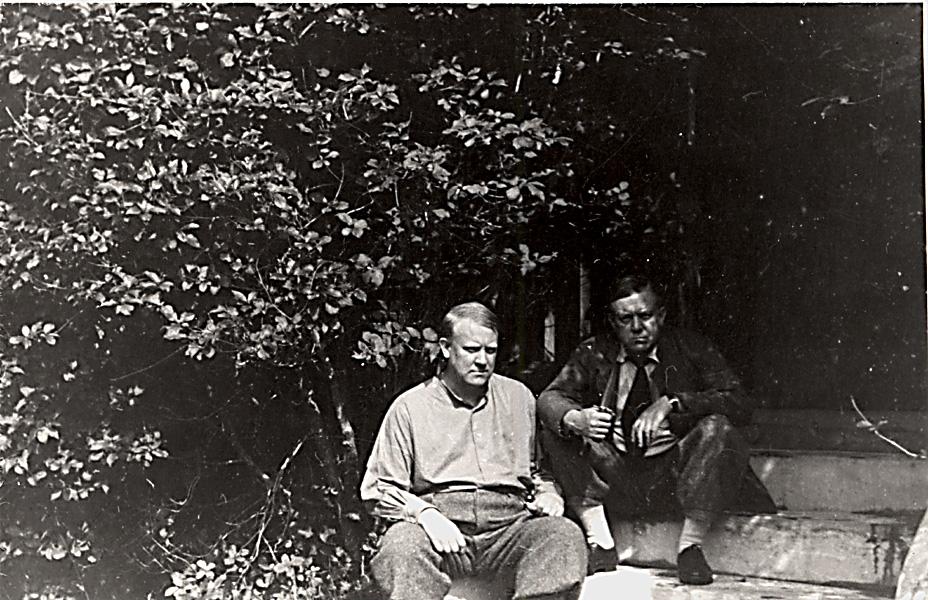 Vidkun og Jørgen Quisling i Fyresdal, 1930-tallet.