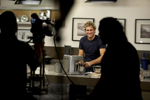 Curtis Stone and Tippingpoint Labs on set | by Tippingpoint Labs
