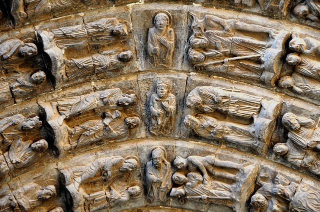 238 - Detalle Arquivoltas - Portada Juicio - Catedral Santa María - Tudela (Navarra) - Spain.