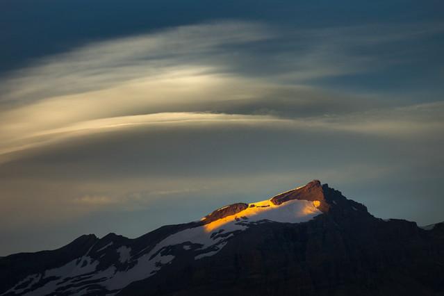 Lenticular Cloud Above Furggen