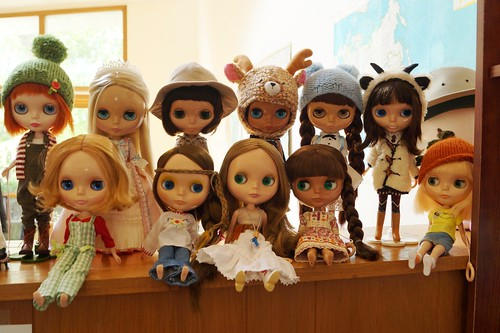 Blythe group in my old house