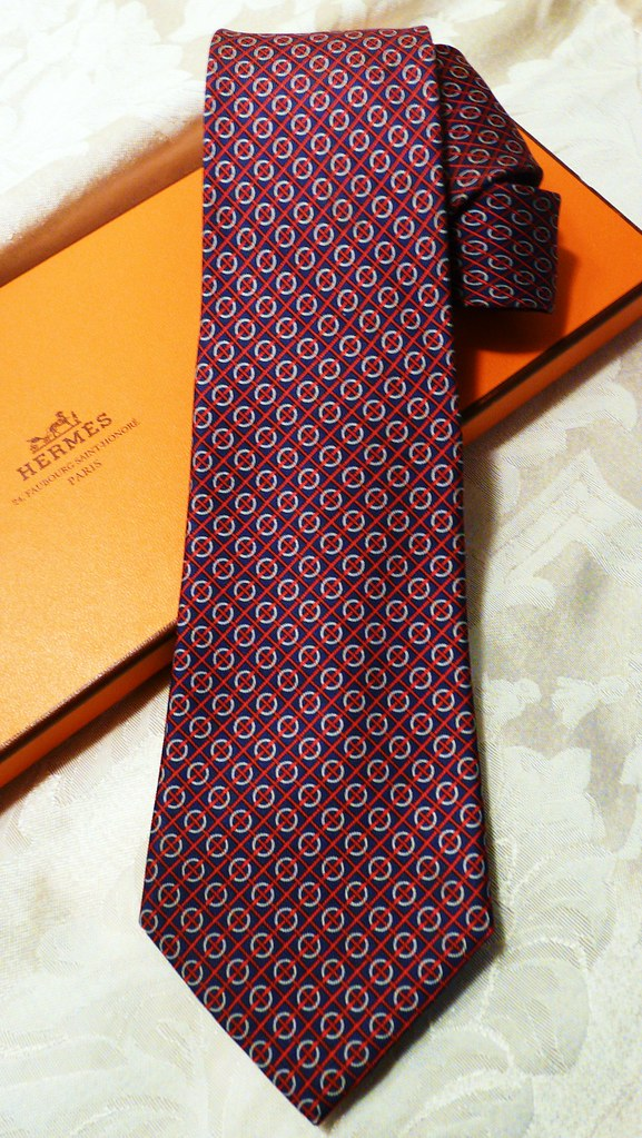 0a1c7e521483 Hermes Silk Tie - 7159 FA | - blue | red | grey - sold | Flickr