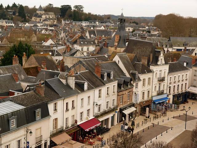 Ciudad de Amboise (valle del Loira, Francia)