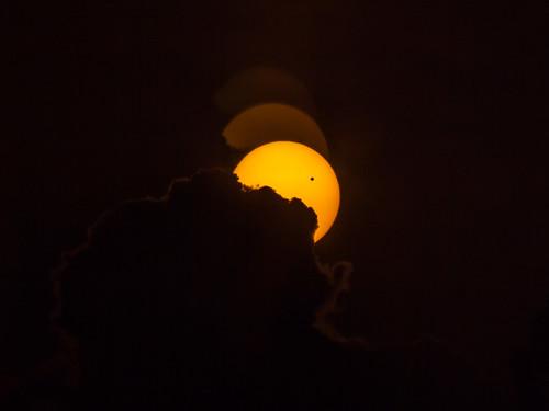 Venus transit sunset