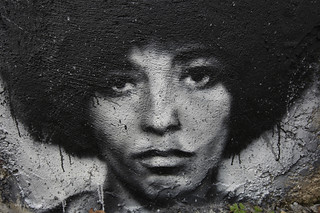Angela Davis, painted portrait IMG_6929004 | by Abode of Chaos