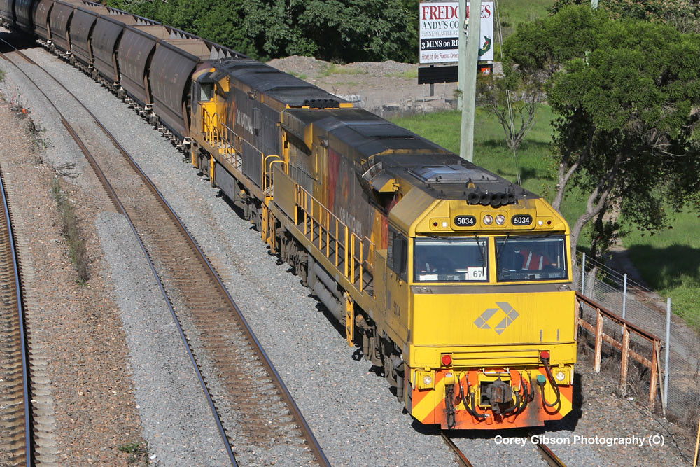 Aurizon Coal train 5034 & 5001 through Maitland by Corey Gibson