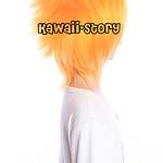 蜜芯圈cosplay万用毛 35cm反翘强悍造型 GHW01 金色系 橙黄色 F3 G系2副本