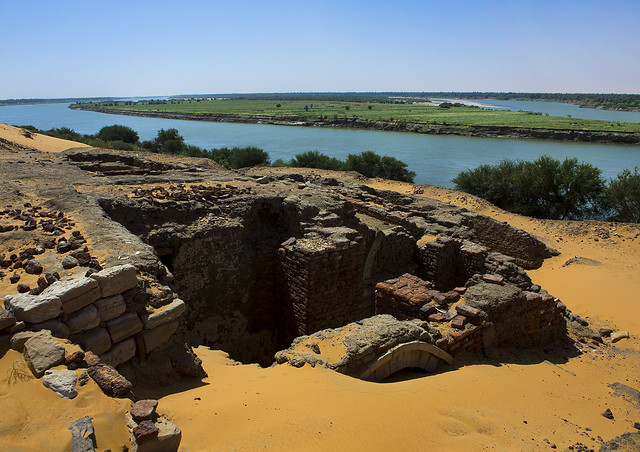 The Ruins Of The Medieval City Of Old Dongola In Front Of River Nile, Sudan