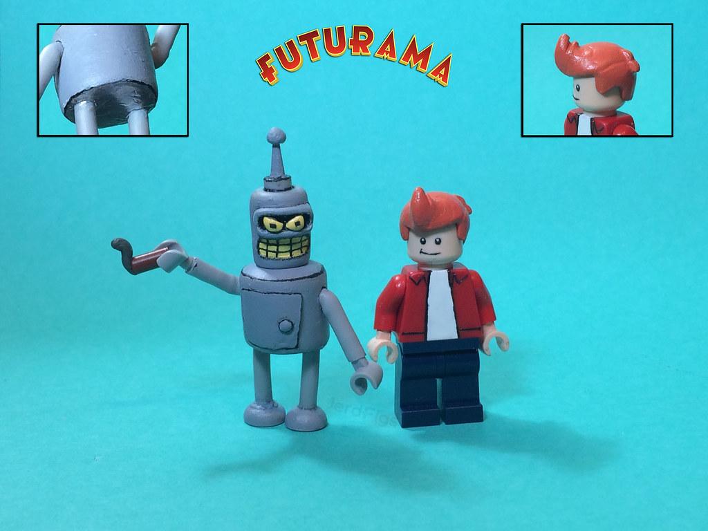 Lego Futurama Bender And Fry Bite My Shiny Metal Ass Fut Flickr