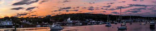 boothbay boothbayharbor maine sunrise morningsky panorrama explore