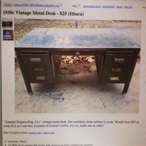 Craigslist description reads: