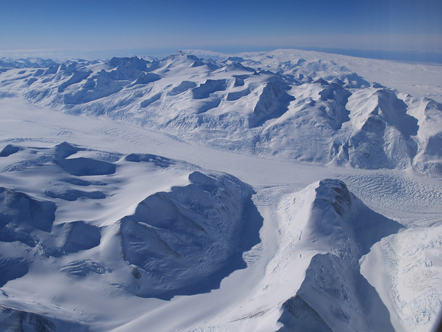 Prince Albert Mountains and massive glaciers - Antarctica
