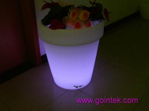 LED Lighted Planter Pot