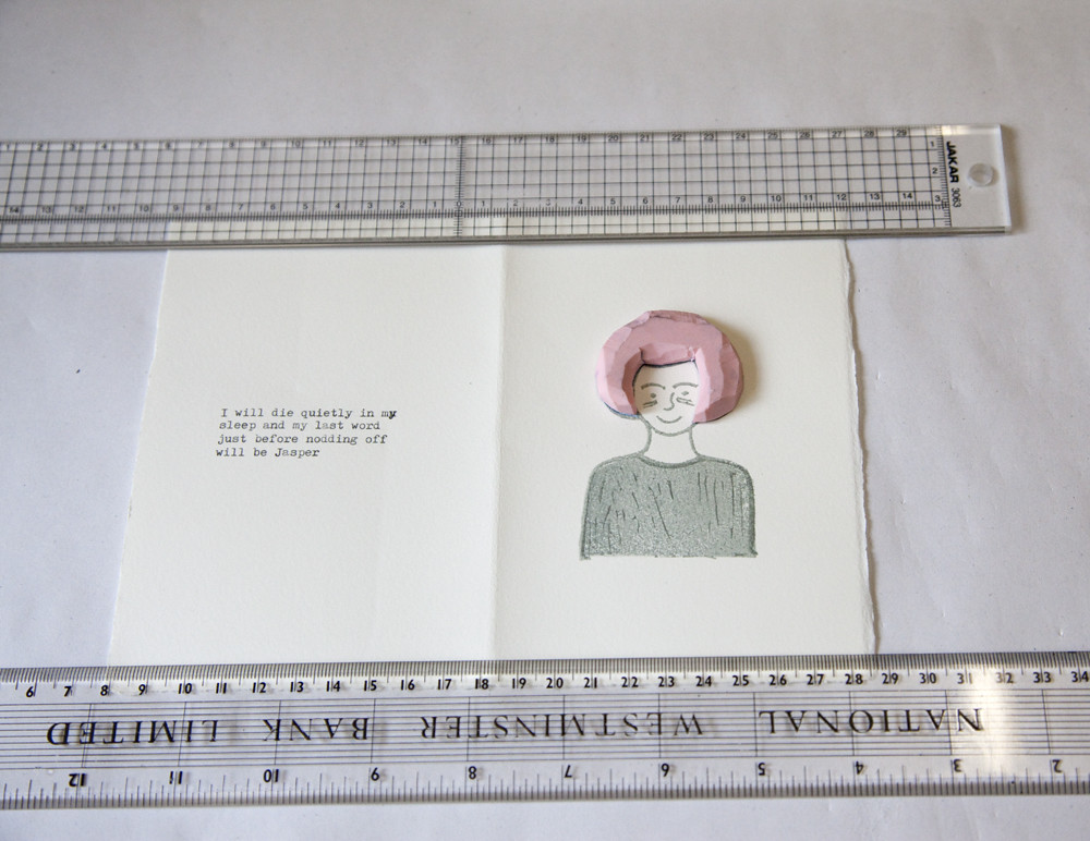 Artist Book Rubber Stamp Printing