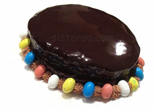 Sisteroo.com Dark Chocolate Ganache Easter Egg Cake | by Sisteroo