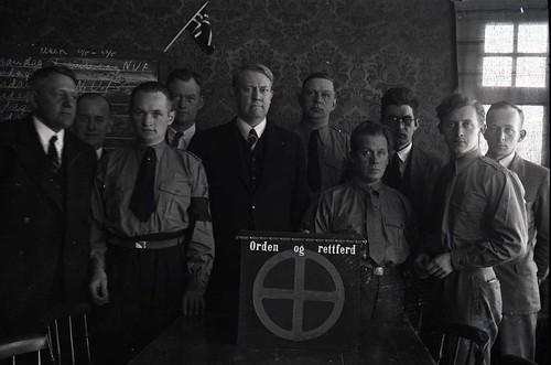 Vidkun Quisling sammen med NS-partifeller, 1930-tallet.