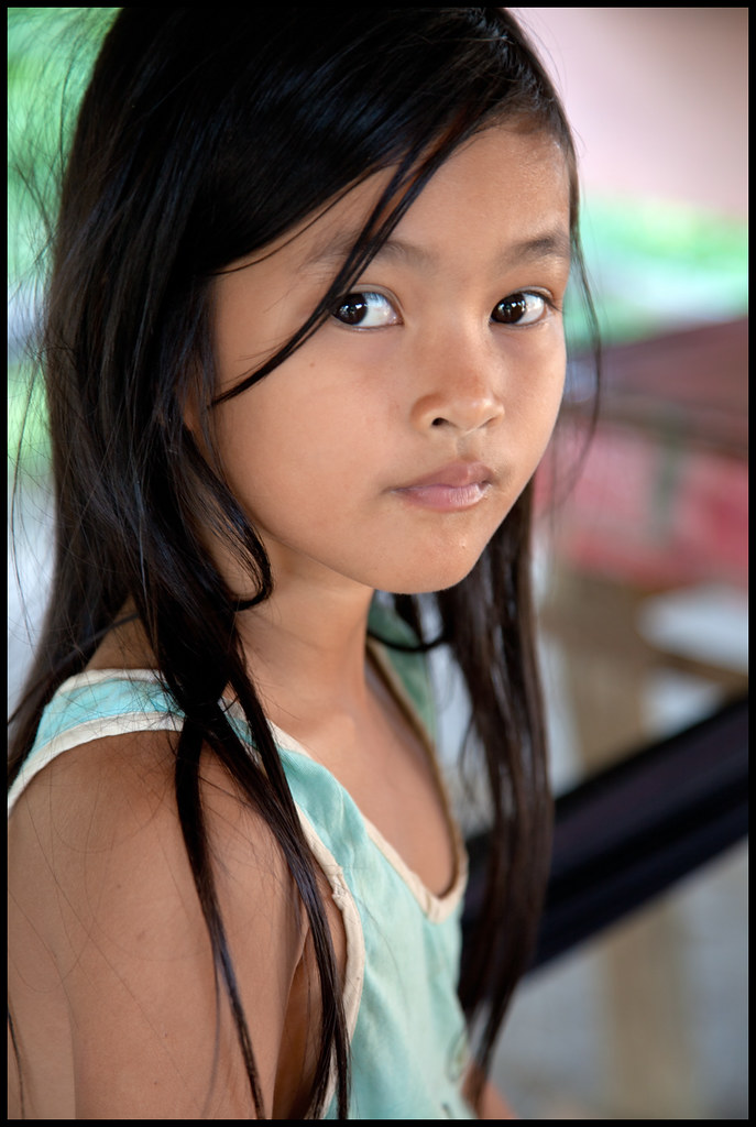 Little Girl In A Village Near Battambang  Cambodia -8367